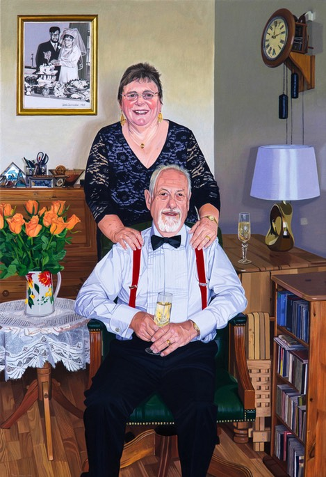 Golden Wedding Portrait.